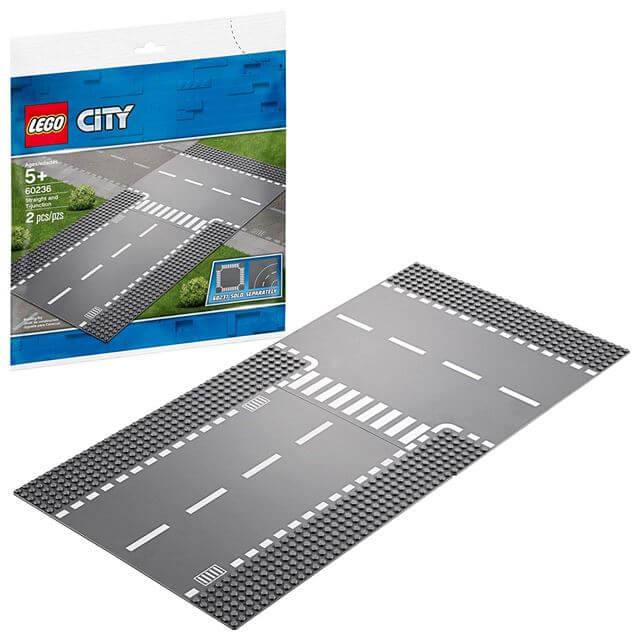 LEGO City Roads Straight and T-Junction 60236