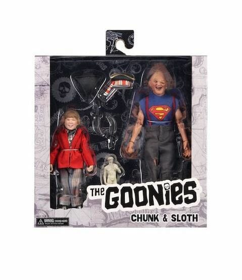 """Goonies Sloth and Chunk 8"""" Clothed Figure 2pk Neca"""