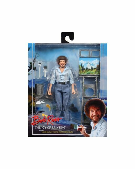 """Bob Ross 8"""" Clothed Figure by Neca"""