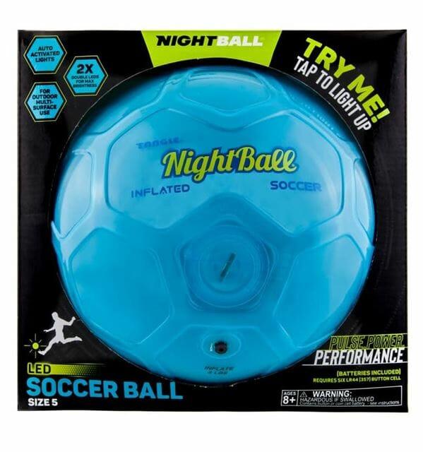 Nightball Soccer Ball by Tangle - Blue