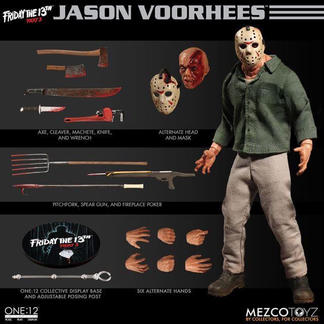 1:12 Scale Jason Voorhees Figure by Mezco