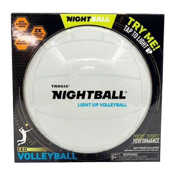 Nightball Light Up Volleyball by Tangle - White